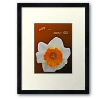 ***SAY IT WITH DAFFODILS! Framed Print