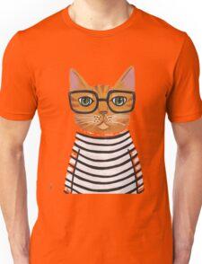 cute girl cat glasses Unisex T-Shirt