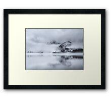 Cat Bells Through the Mist Framed Print