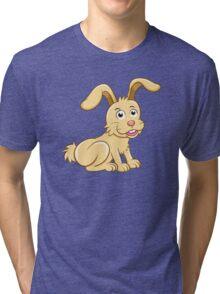 Funny yellow cartoon rabbit Tri-blend T-Shirt