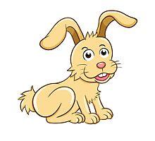 Funny yellow cartoon rabbit Photographic Print