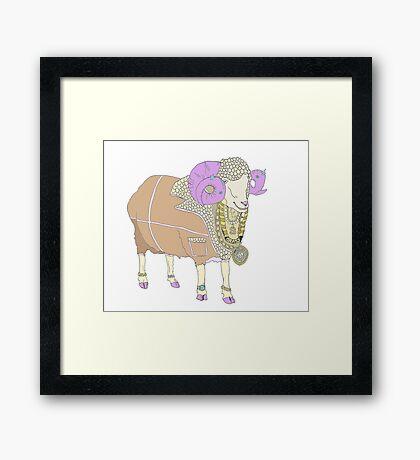 Rambling - Jewellery for Sheep Framed Print