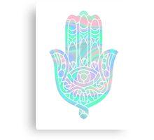 Holographic Hamsa Canvas Print