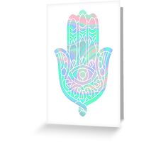 Holographic Hamsa Greeting Card
