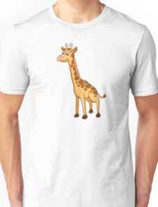Cute cartoon giraffe Unisex T-Shirt