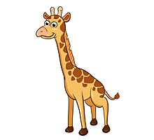 Cute cartoon giraffe Photographic Print