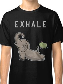 Elephant exhale funny shirt Classic T-Shirt