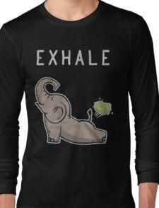 Elephant exhale funny shirt Long Sleeve T-Shirt