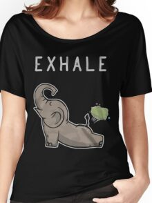 Elephant exhale funny shirt Women's Relaxed Fit T-Shirt