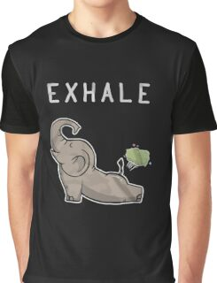 Elephant exhale funny shirt Graphic T-Shirt