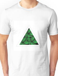 green flowers in triangle Unisex T-Shirt