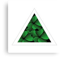 green flowers in triangle Canvas Print