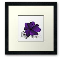 violet flowers in triangle Framed Print