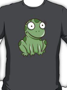 Funny green cartoon frog T-Shirt