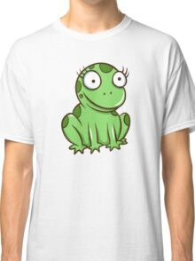 Funny green cartoon frog Classic T-Shirt