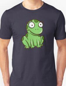 Funny green cartoon frog Unisex T-Shirt