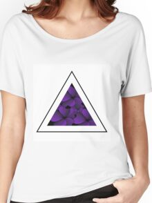 purple flowers in triangle Women's Relaxed Fit T-Shirt