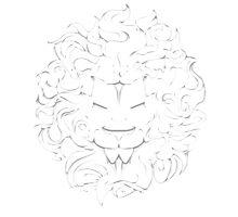 Lion Crest® - Embossed lion Photographic Print