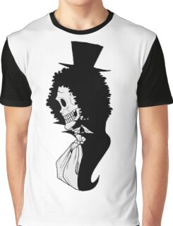 <ONE PIECE> Brook Profile Graphic T-Shirt