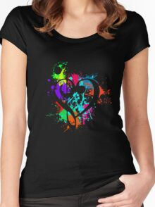 Music (Black) Women's Fitted Scoop T-Shirt