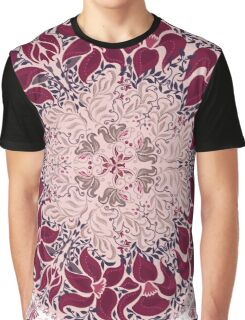 Floral elements silhouettes. Circular pattern of traditional motifs and vintage oriental ornaments Graphic T-Shirt