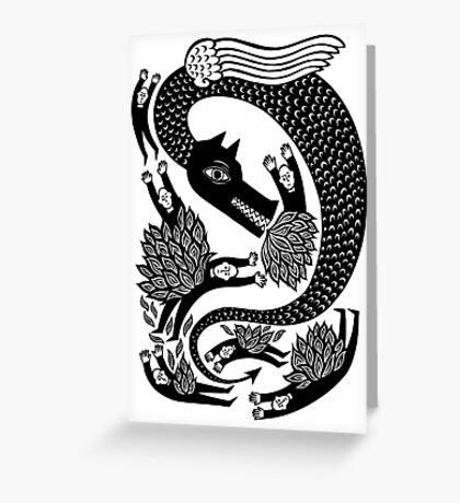 And the dragon Greeting Card