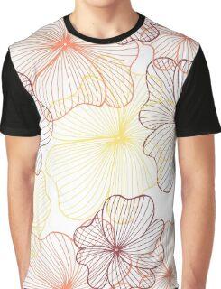 orange flowers print Graphic T-Shirt