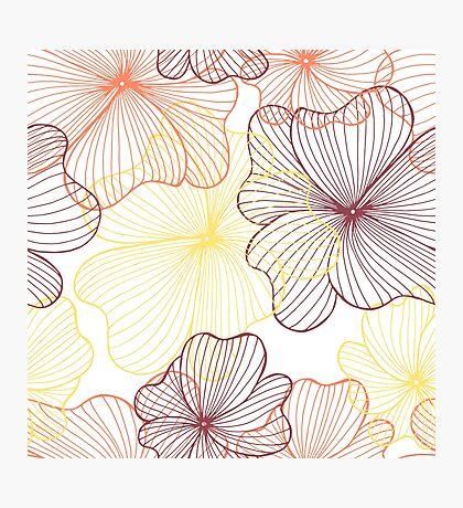 orange flowers print Photographic Print