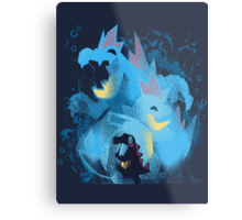 totodile, croconaw and feraligart evolutions cool design Metal Print