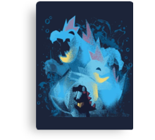 totodile, croconaw and feraligart evolutions cool design Canvas Print