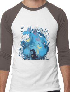 totodile, croconaw and feraligart evolutions cool design Men's Baseball ¾ T-Shirt