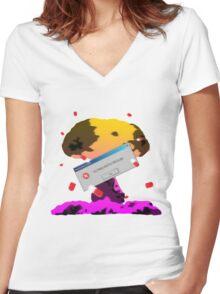 Ultima Ratio Regum - Last Argument of Kings Women's Fitted V-Neck T-Shirt