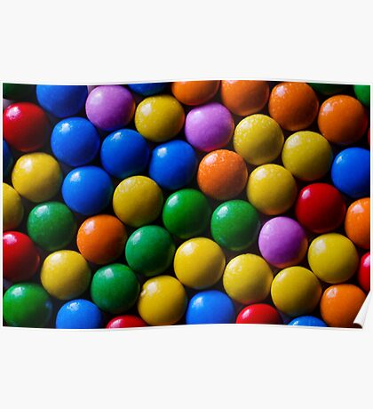 Colorful chocolate Poster