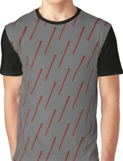 Patterned-Handle Red Wand Graphic T-Shirt