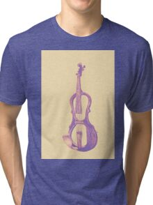 Drawing of electric violin. Illustration.  Tri-blend T-Shirt