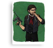cartoon booker dewitt Canvas Print