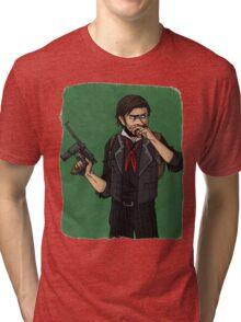 cartoon booker dewitt Tri-blend T-Shirt