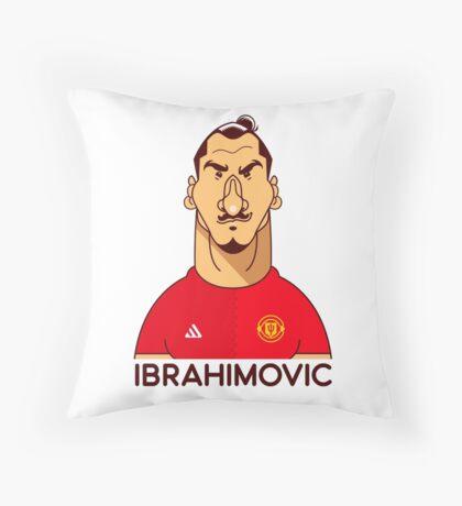Ibra utd Throw Pillow