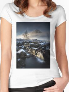 Buachaille Falls at Glencoe Women's Fitted Scoop T-Shirt