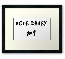 Vote Bailey #1 Framed Print