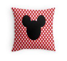 Mouse Silhouette Throw Pillow