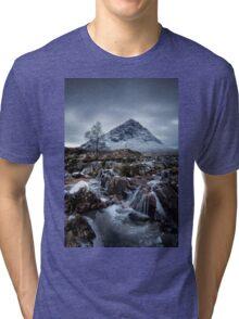 River Coupall Waterfalls, Glencoe Tri-blend T-Shirt