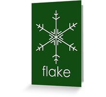 Flake 3 Greeting Card