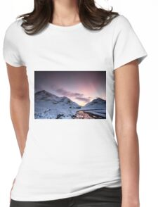 Lagangarbh Cottage Sunset, Glencoe Womens Fitted T-Shirt