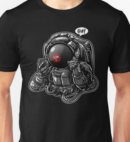 Astronaut Lost Signal in Space Unisex T-Shirt