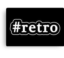 Retro - Hashtag - Black & White Canvas Print