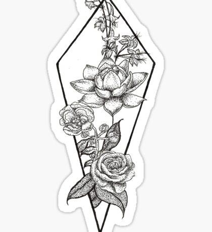Ink Flowers Sticker