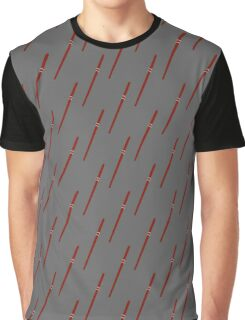 Red Wand With Silver Rings Graphic T-Shirt