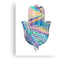 Rainbow Holographic Hamsa Canvas Print