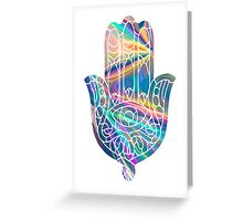 Rainbow Holographic Hamsa Greeting Card